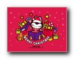 2014年月历 拽猫 可爱卡通猫 宽屏壁纸