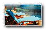 奢华现代室内游泳池宽屏壁纸
