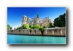 巴黎圣母院风光风景壁纸