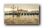 意大利 水上都市 威尼斯 宽屏壁纸