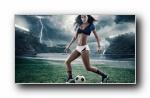 2014巴西世界杯性感足球宝贝宽屏壁纸