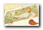 《屋顶的猫》手绘宽屏壁纸