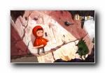 小红帽《幸福的种子》手绘女孩宽屏壁纸