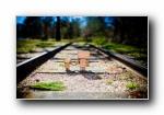 非主流风景铁轨,轨道宽屏壁纸