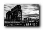 纽约(美国第一大城市)黑白全景宽屏壁纸