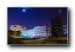 欧洲克罗地亚共和国 夜景摄影宽屏壁纸