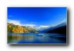 中��新疆天山天池 �L光�L景��屏壁�