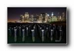 纽约(美国第一大城市)彩色全景宽屏壁纸