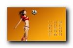 2014巴西世界杯赛程美女模特宽屏壁纸