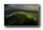 新西兰香槟池风光风景宽屏壁纸