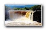 黑龙江镜泊湖吊水楼瀑布宽屏壁纸