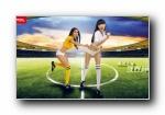 2014巴西世界杯 指尖上视界杯足球宝贝壁纸