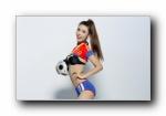 2014巴西世界杯 美女模特Mermaid足球宝贝宽屏壁纸
