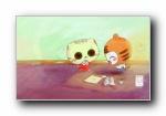CC猫 童年游戏可爱卡通猫宽屏壁纸