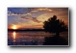欧洲多瑙河日落风光风景宽屏壁纸