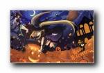 万圣节主题可爱卡通宽屏壁纸