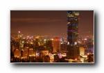 台北101摩天大楼 夜景风光风景宽屏壁纸