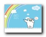 邦尼熊 LOVE 可爱卡通宽屏壁纸