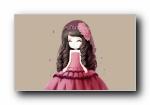 花花公主 精美设计女孩宽屏壁纸