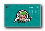 2015年 炮炮兵可爱卡通 年历月历宽屏壁纸