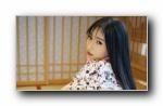 日本和服美女模特宽屏壁纸