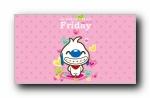 辛巴狗《一个星期》可爱卡通宽屏壁纸