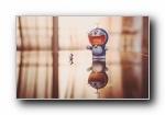 哆啦A梦 可爱玩偶宽屏壁纸