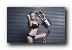宝马3系 改装车美女模特杨若蕾宽屏壁纸