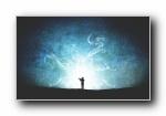 星空之梦 创意设计剪影宽屏壁纸