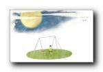 张小娴《三月里的幸福饼》手绘插画宽屏壁纸