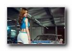 保时捷997 GT3 Cup 改装车美女模特泷泽萝拉宽屏壁纸