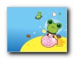 Sinbawa 夏日可爱卡通宽屏壁纸