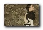 刘雯复古中国风宽屏壁纸