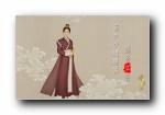 孙俪《芈月传》唯美中国风手绘宽屏壁纸