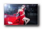 日产350Z,保时捷cayman改装车美女模特宽屏壁纸