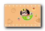 Hello菜菜 女孩可爱卡通宽屏壁纸