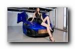 迈凯轮 改装车美女长腿模特小甜甜宽屏壁纸