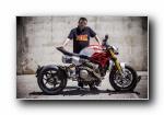 杜卡迪 怪兽1200匹 改装版 摩托车