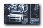 日产战神GTR R34经典跑车宽屏壁纸