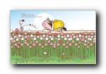 蘑菇点点现代浪漫婚礼可爱卡通宽屏壁纸