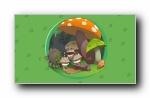 三只松鼠 可爱卡通宽屏壁纸