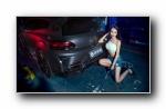 大众尚酷 改装车美女模特李佳熙宽屏壁纸
