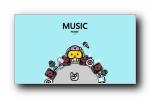 蘑菇点点 时尚音乐可爱卡通宽屏壁纸