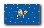 鸭嘴兽男孩之太空旅行宽屏壁纸