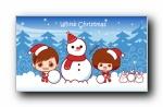 摩丝摩丝 2017圣诞可爱卡通宽屏壁纸