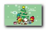 鸭嘴兽男孩 圣诞节可爱卡通宽屏壁纸