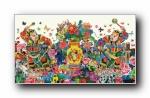 2017鸡年苹果春节年画宽屏壁纸