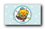 鸭嘴兽男孩 2017鸡年新春拜年宽屏壁纸