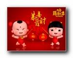 2017年鸡年招财童子 金童女玉 送五福