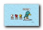 鸭嘴兽男孩之在路上 可爱卡通宽屏壁纸